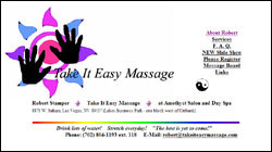 Take It Easy Massage - Robert Stamper